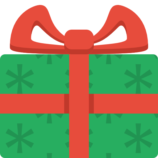 Christmas present clipart png. Simple icon image iconbug