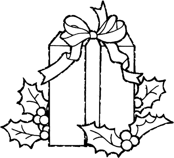 Drawing present colouring. Download christmas presents coloring