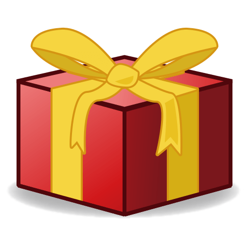 Present emoji png. Wrapped for facebook email