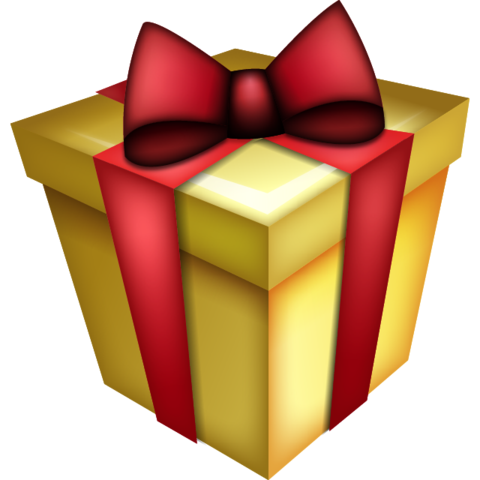 Christmas present emoji png. Download gift icon pinterest