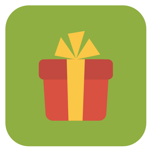 Christmas present tag png. Gift icon flat iconset