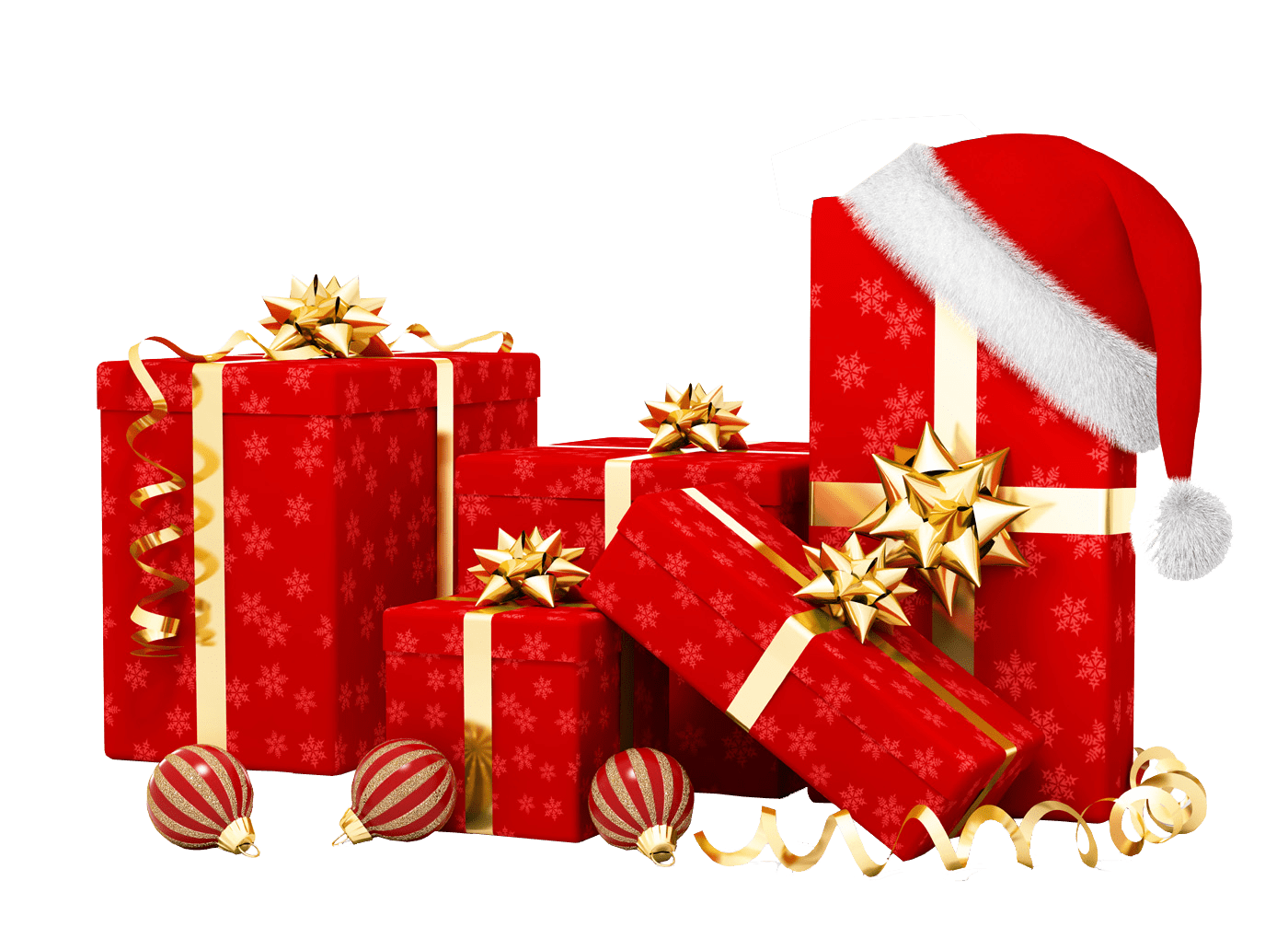 Christmas present transparent png. Gifts stickpng