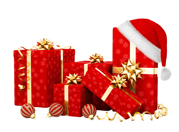 Christmas presents png. Gifts transparent background