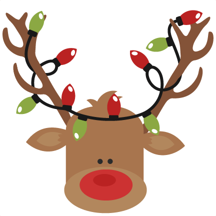 Christmas reindeer antlers png. With lights svg cutting