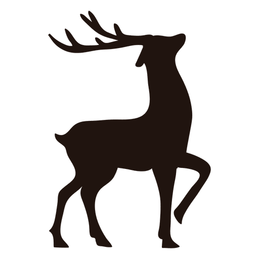Christmas reindeer antlers transparent background png. Silhouette standing svg vector