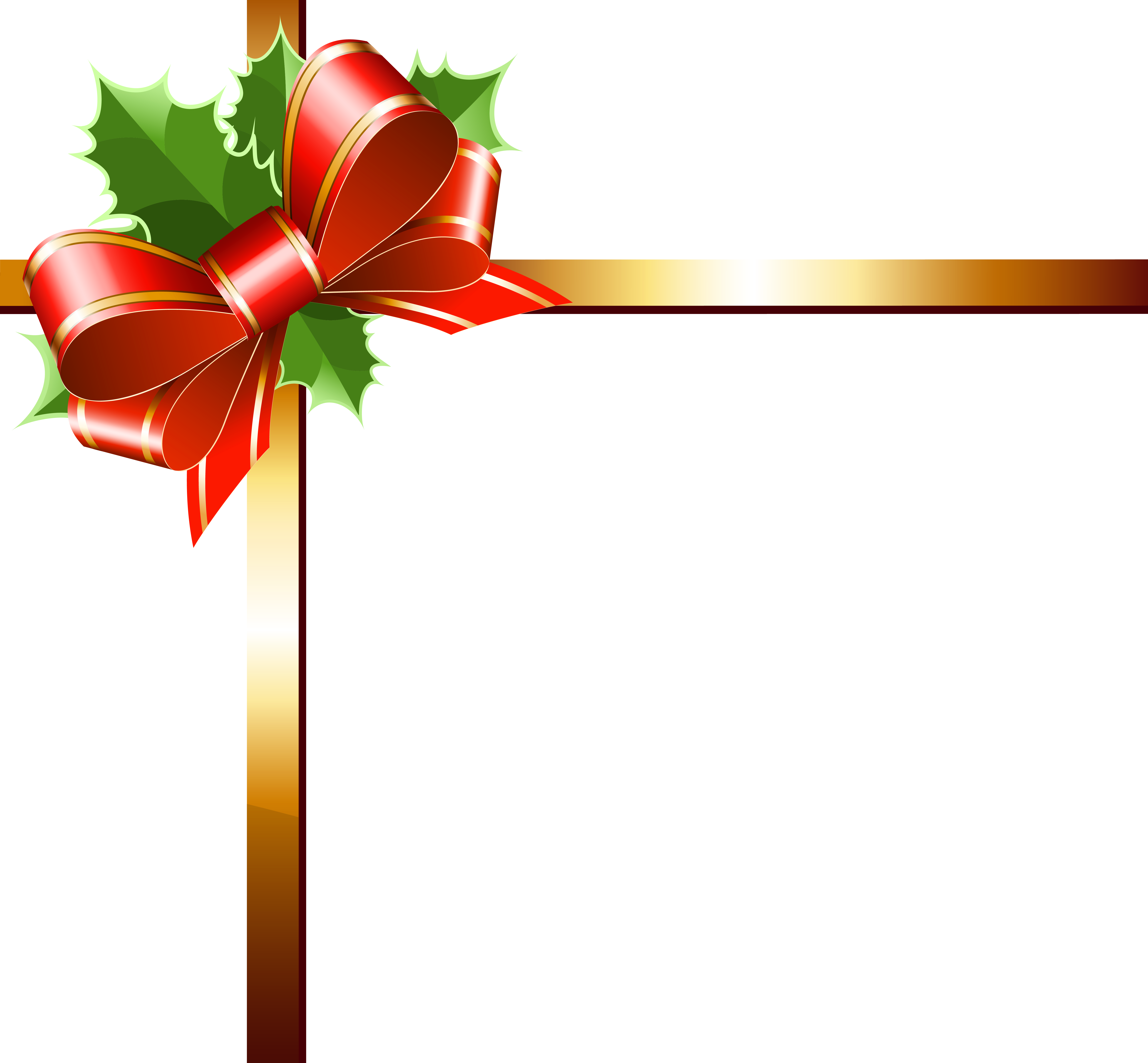 Christmas ribbon png. Gold clipart image gallery