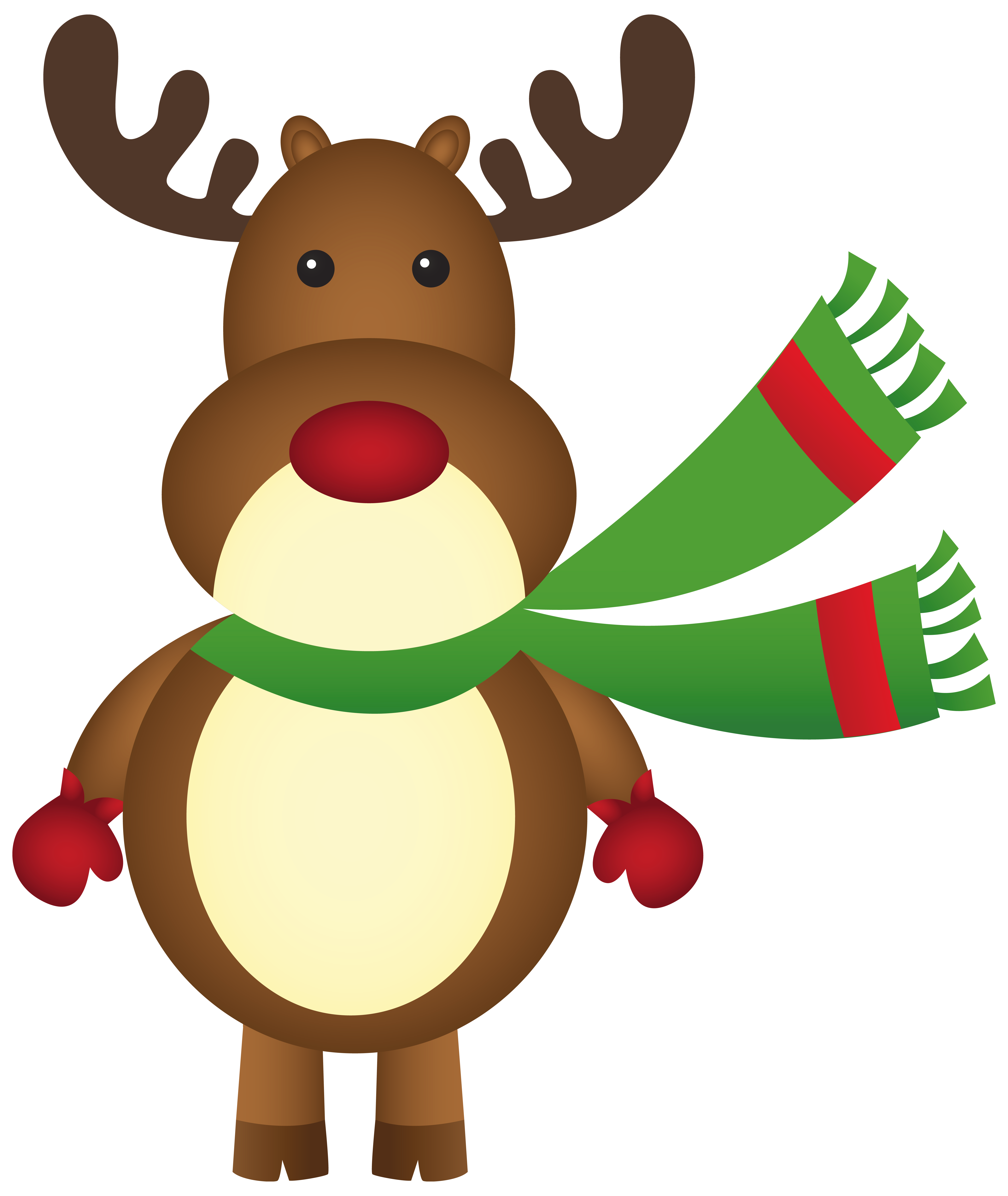 Christmas scarf png. Rudolph with clipart image