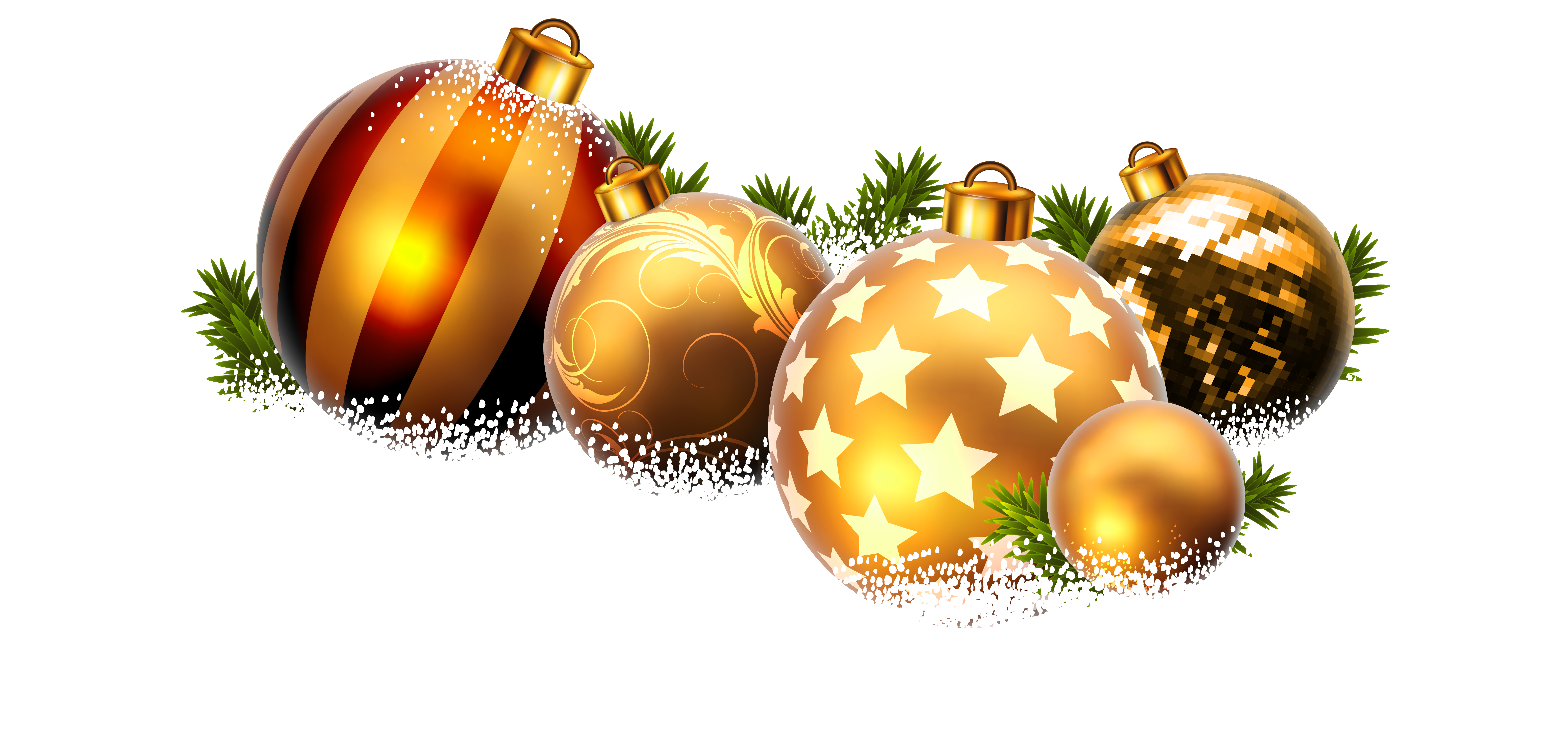 Christmas snow png. Balls and clipart image