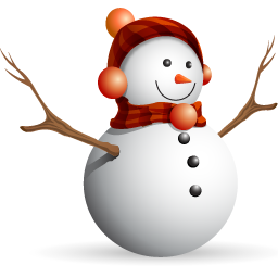 Christmas icon . Snow man png clipart library stock
