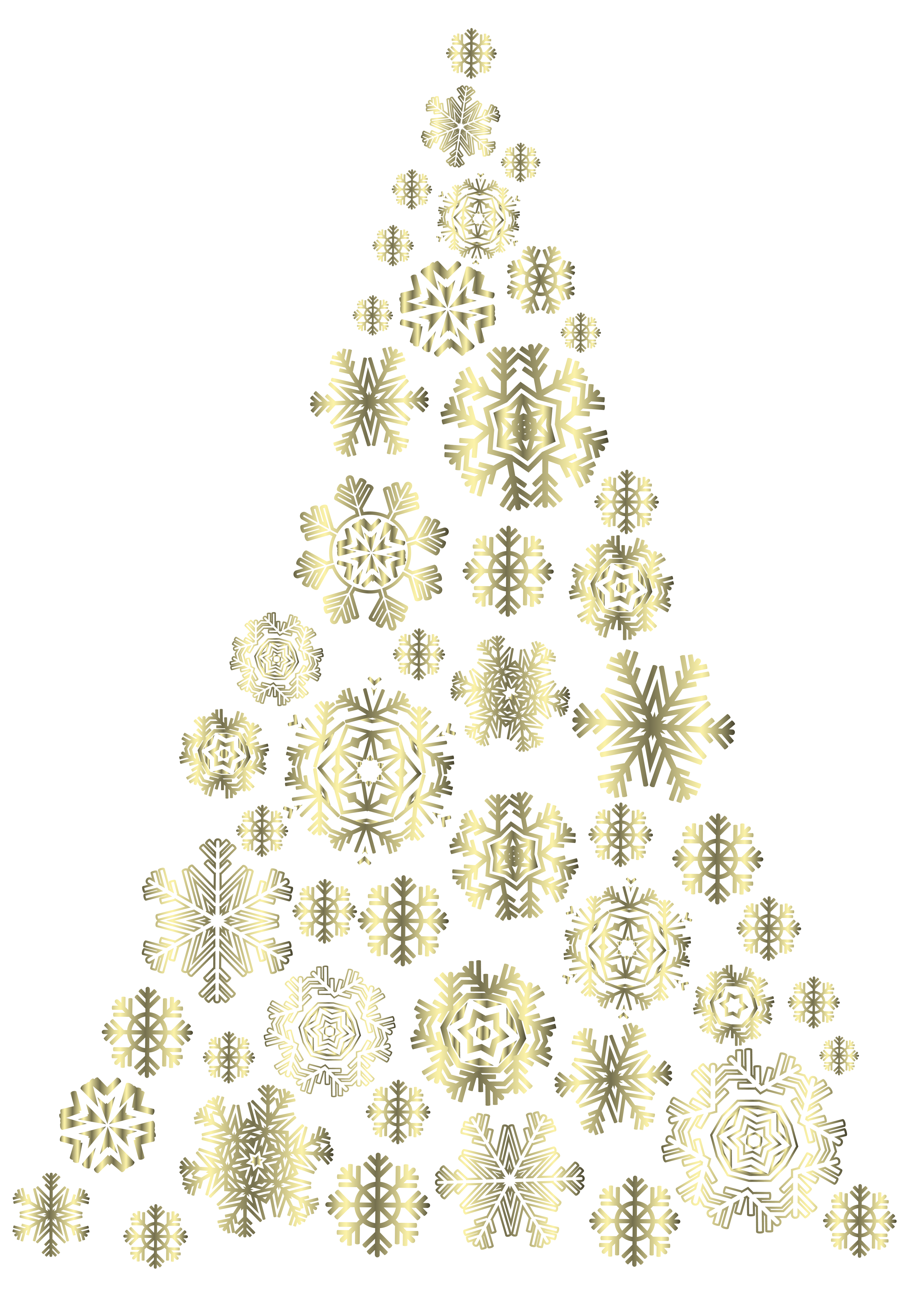 Christmas snowflakes png. Golden tree image gallery