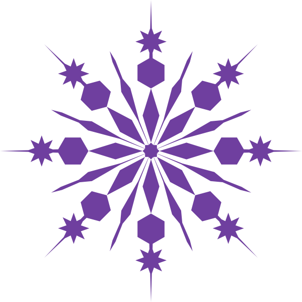 Christmas snowflakes png. Snowflake clip art purple