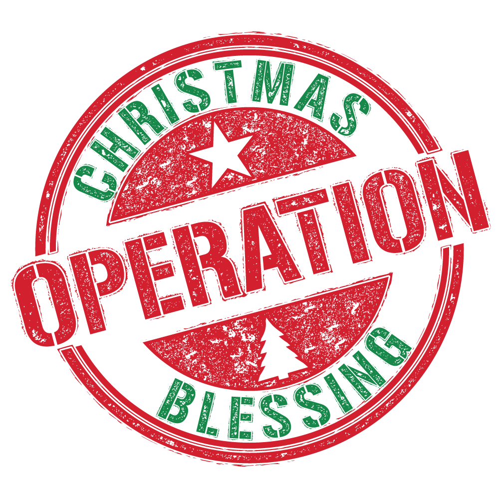 Christmas stamp png. Community outreach operation blessing