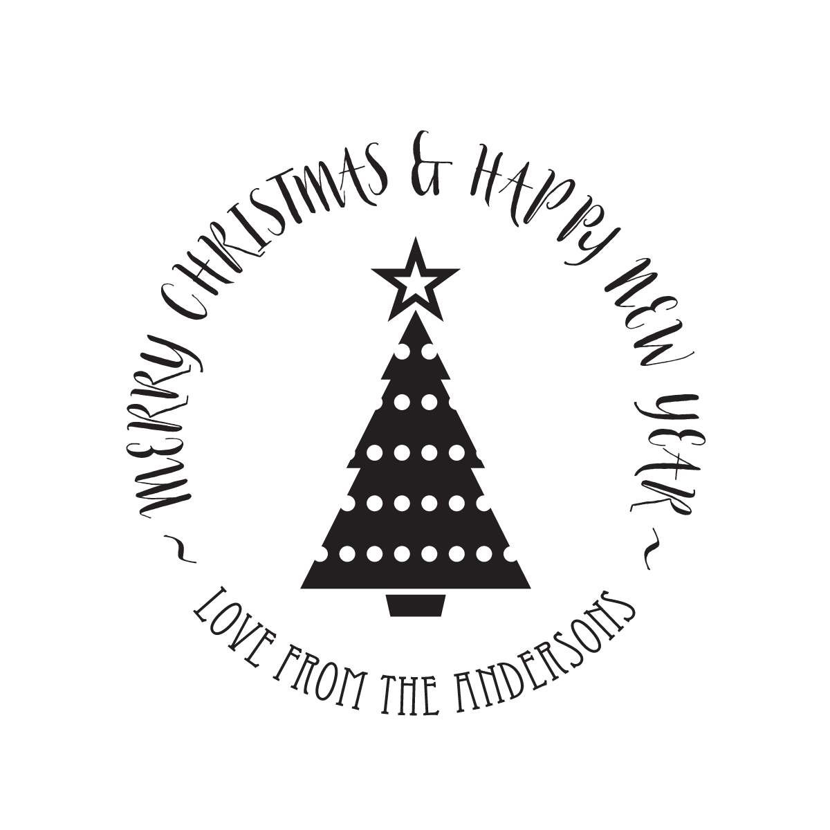 Tree stamptastic uk. Christmas stamp png banner black and white download