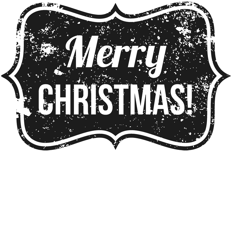 Christmas stamp png. Distressed merry badge rubber