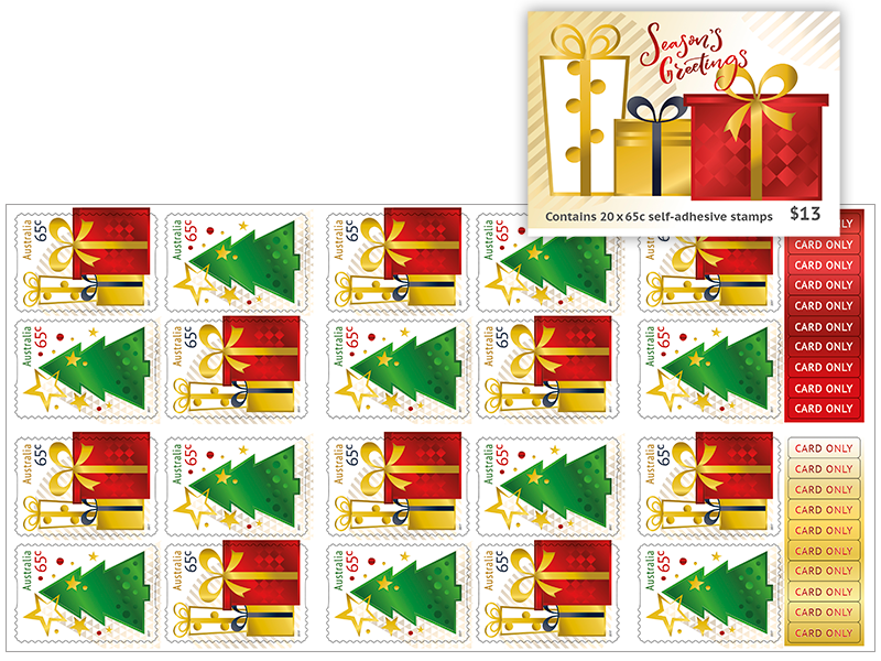 Christmas stamp png. Booklet of x c