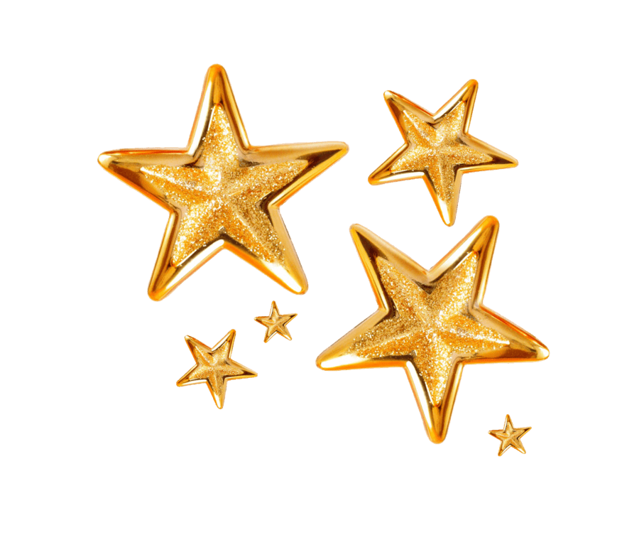 Christmas star png transparent background. Group of stars stickpng
