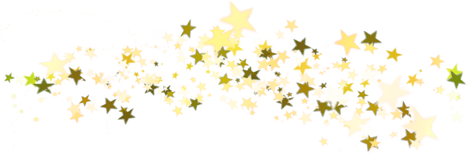 Falling stars png. Christmas gold star transparent