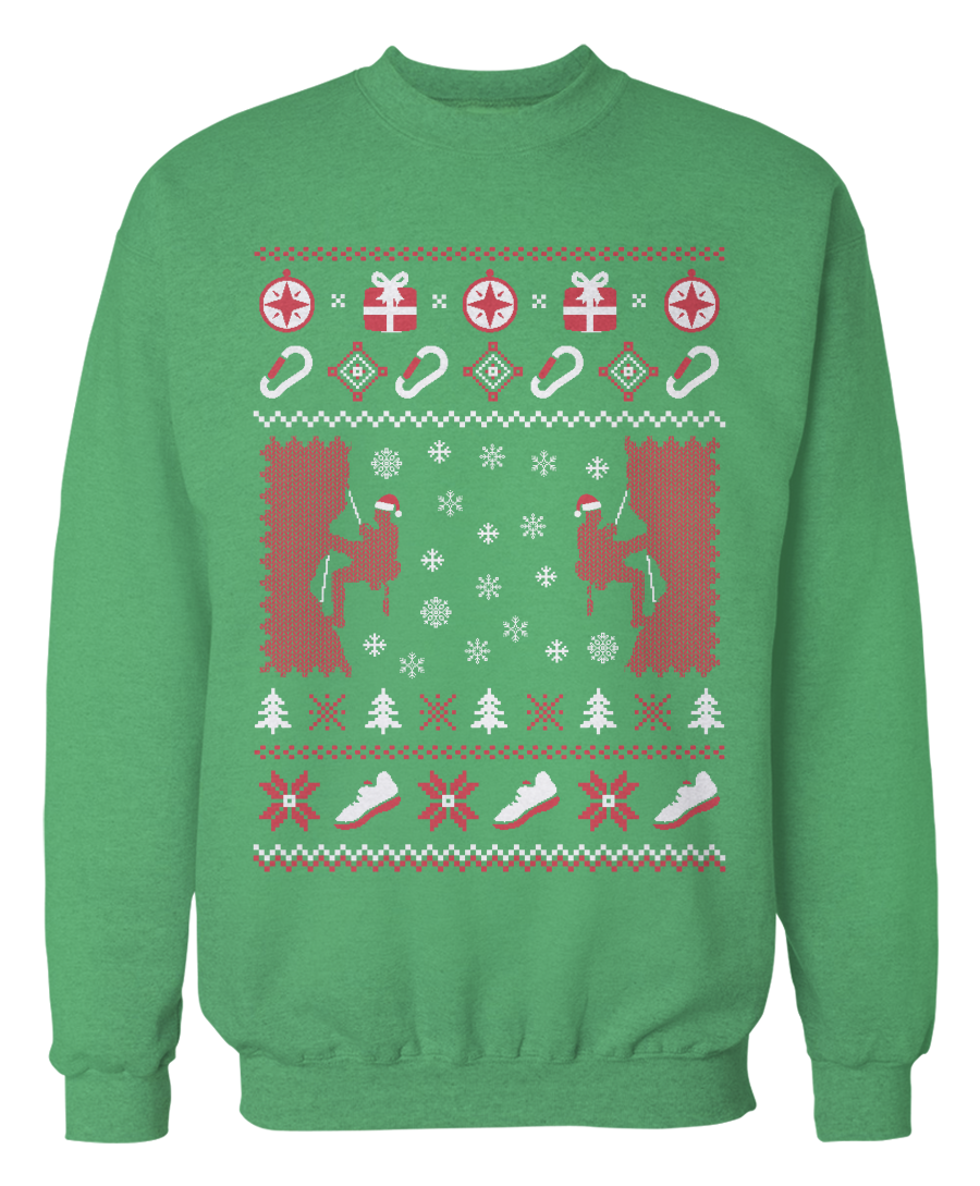 Christmas sweater png. Rock climbing bouldering ugly