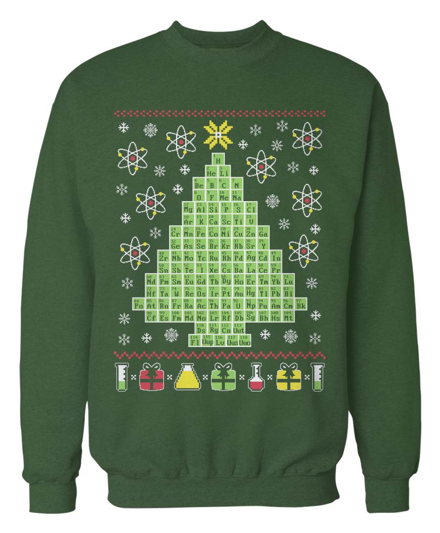 Christmas sweater png. Chemistry periodic table science
