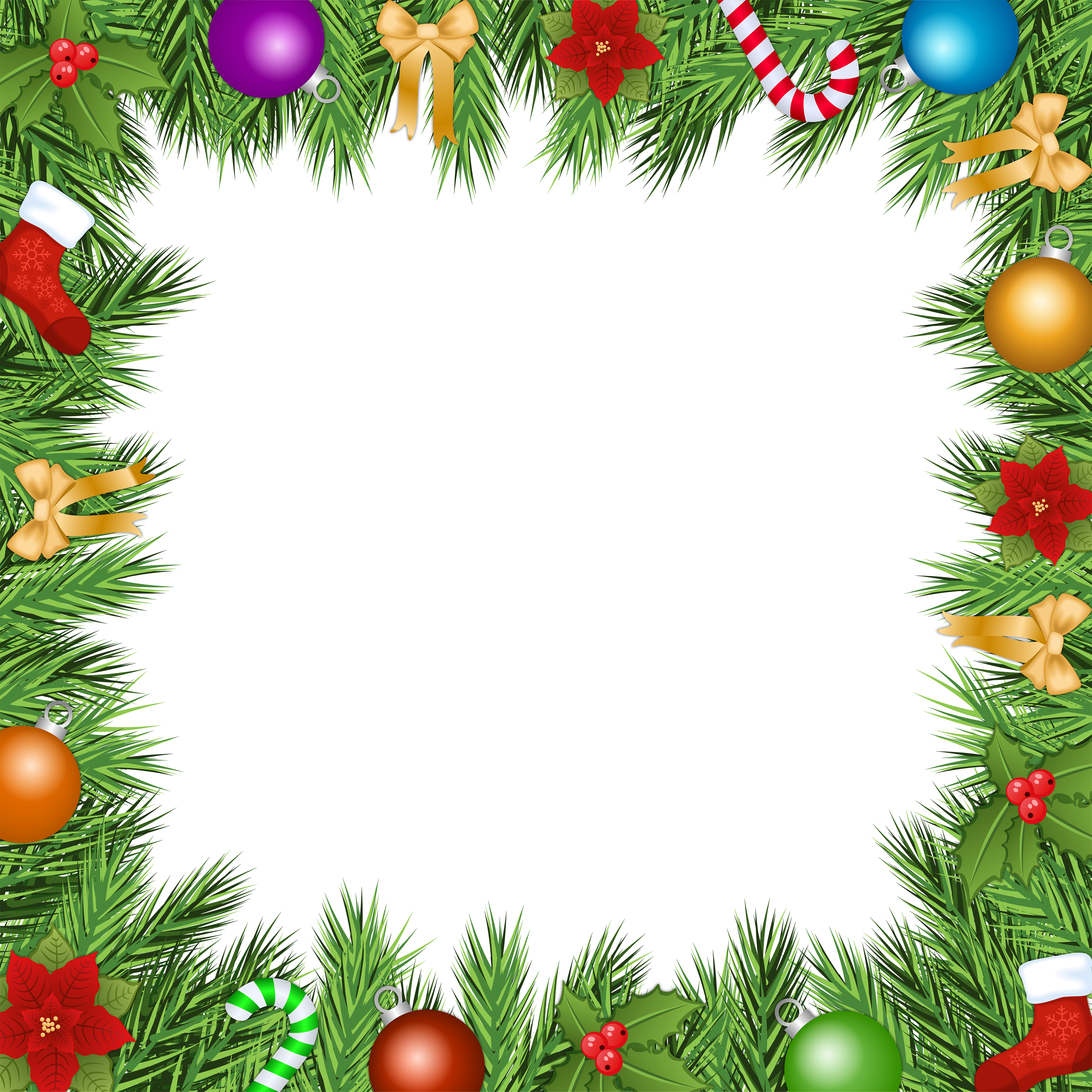 Christmas top border png. Transparent frame gallery yopriceville