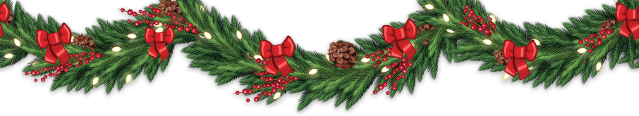 Christmas top border png. Fir tree branches and
