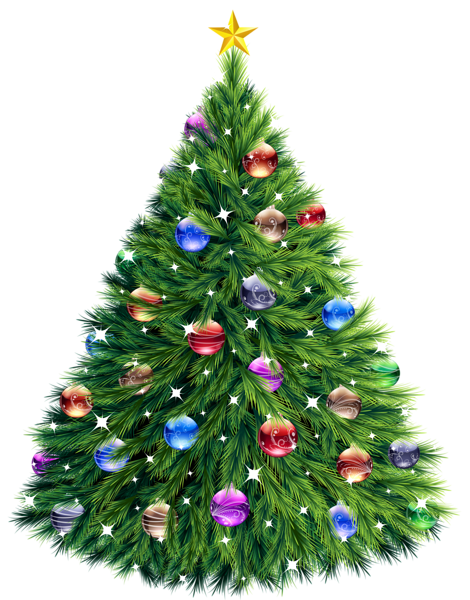 Christmas tree clipart png. Transparent d cards