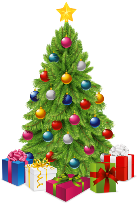 Christmas Tree Clipart Transparent Background.Christmas Tree And Presents Transparent Png Clipart Free
