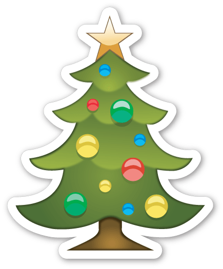 Tree emoji png. Christmas sticker transparent stickpng