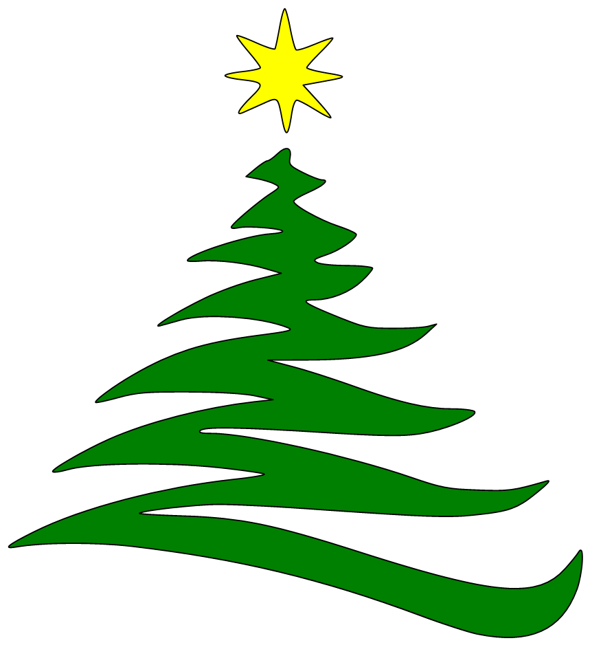 Christmas tree outline png. Clipart free icons and