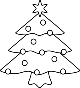 Christmas tree outline png. Clip art at clker