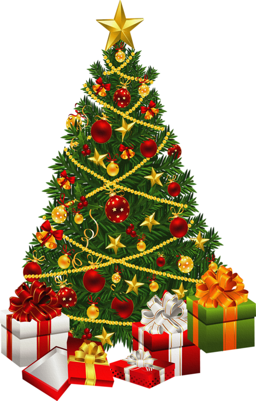 white christmas tree png