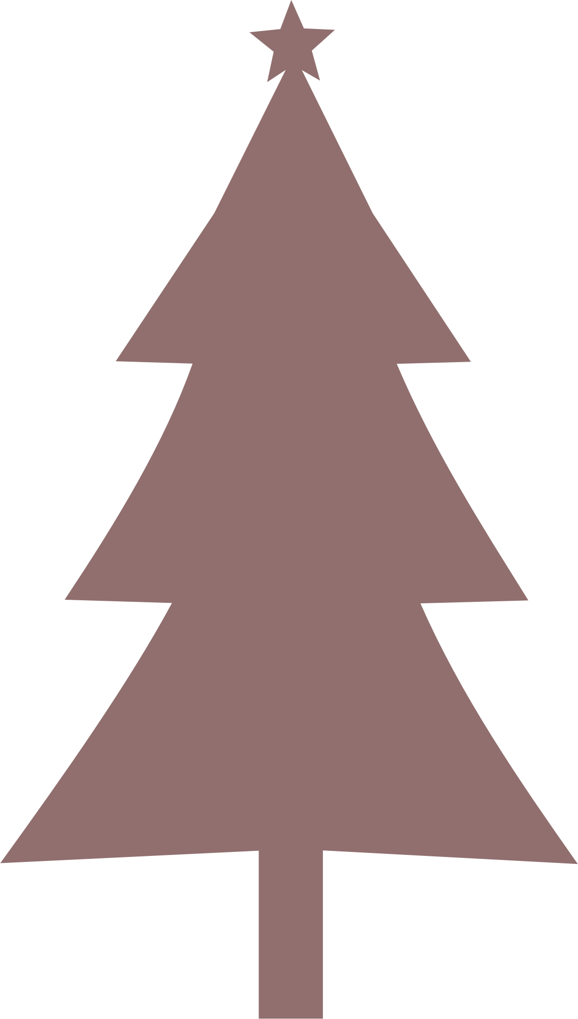 Bare Christmas Tree Svg.Christmas Tree Silhouette Transparent Png Clipart Free
