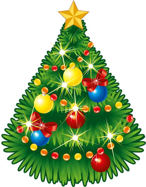 Christmas tree star png. Transparent with clipart