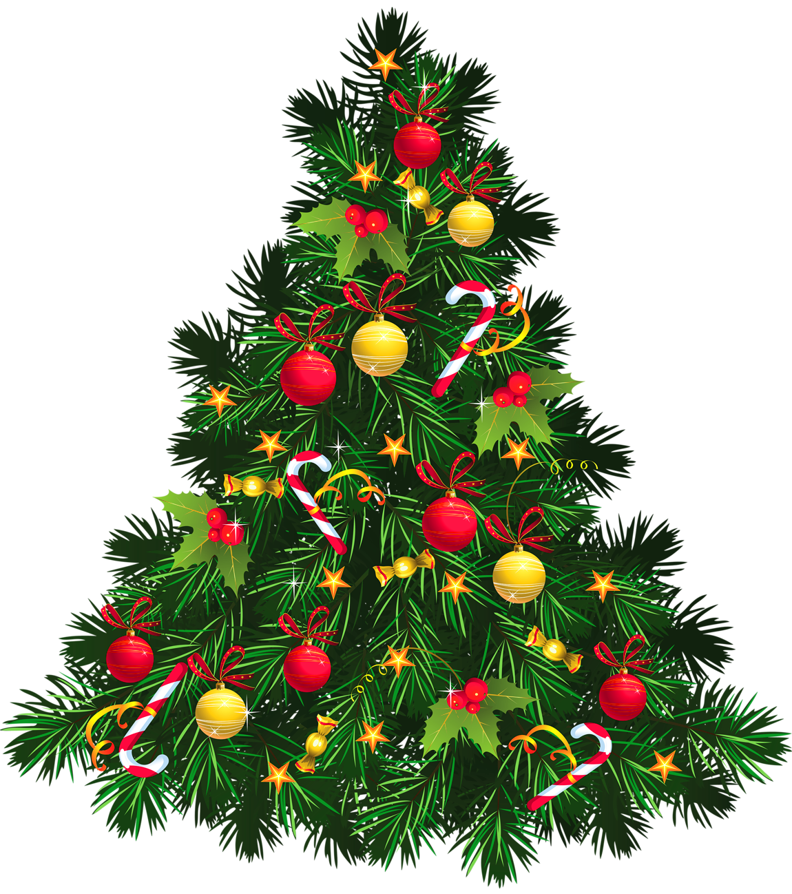 Christmas tree transparent background png. With ornaments picture gallery