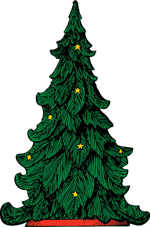 Clip art library cartoon. Christmas tree vector png banner library download