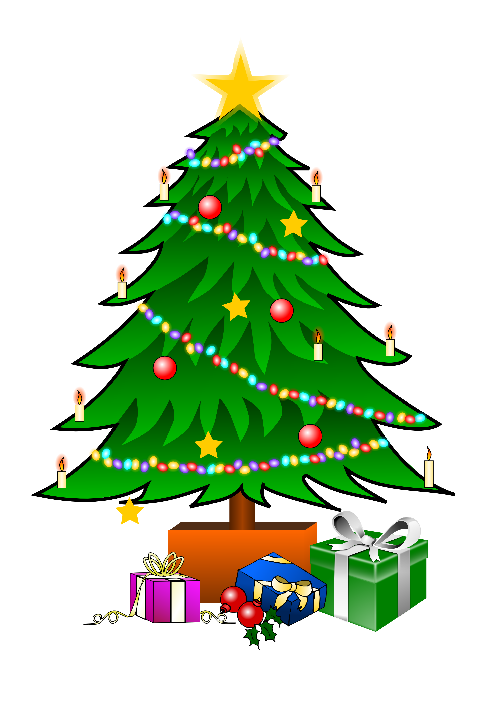 Clipart . Christmas tree vector png vector black and white