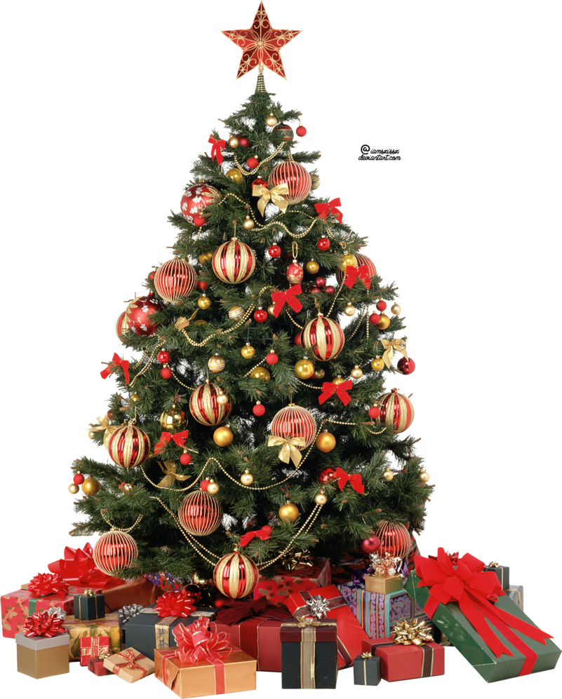Christmas tree with presents png. Xmas by iamszissz on