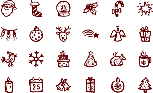 Christmas vector png. Merry icons