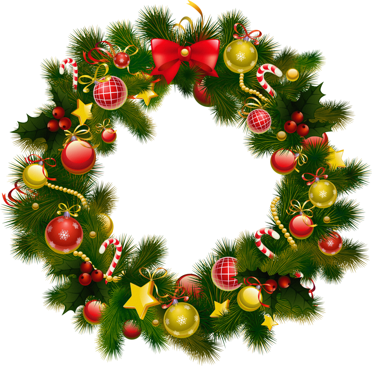 Christmas wreath border png. Photo frame gallery yopriceville