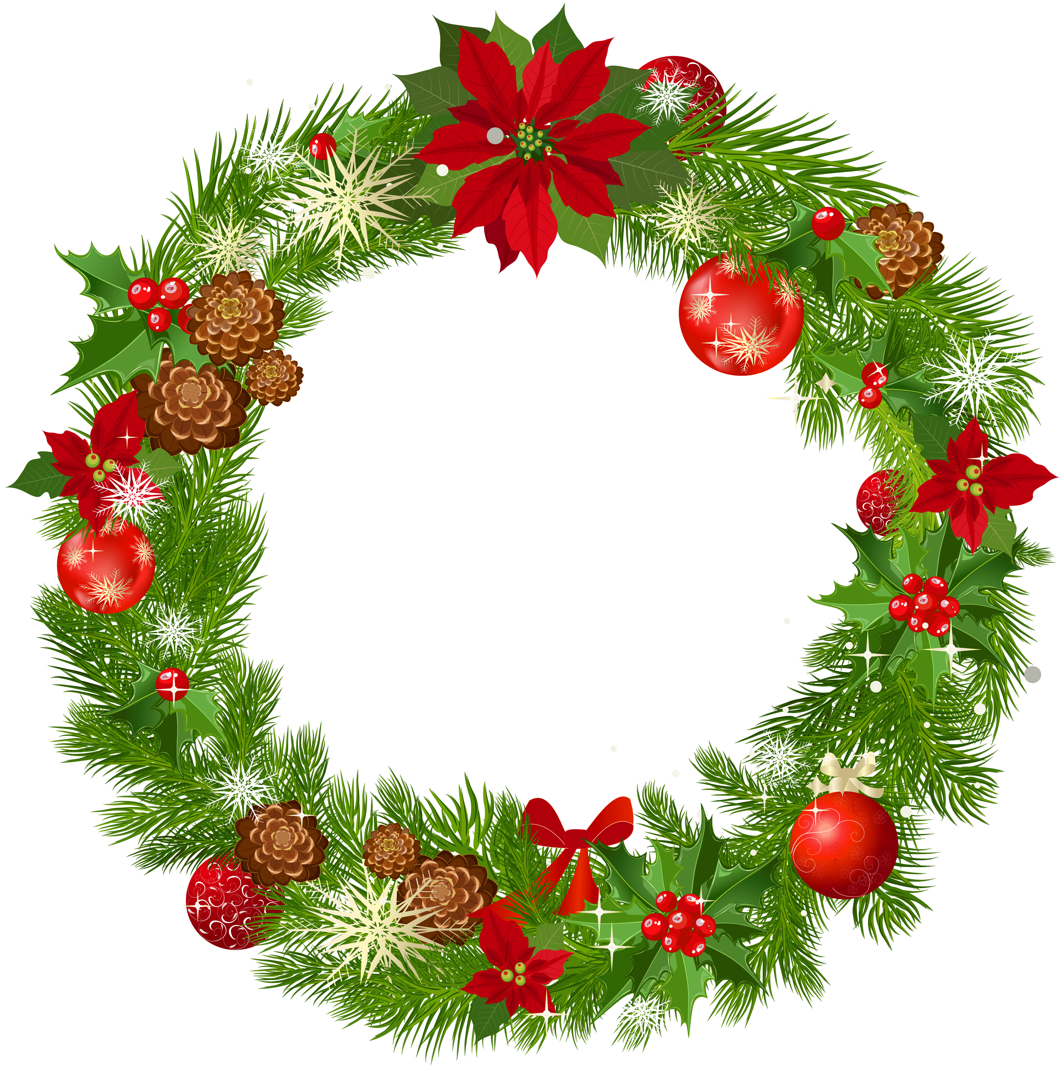 Christmas wreath border png. Collection of clipart
