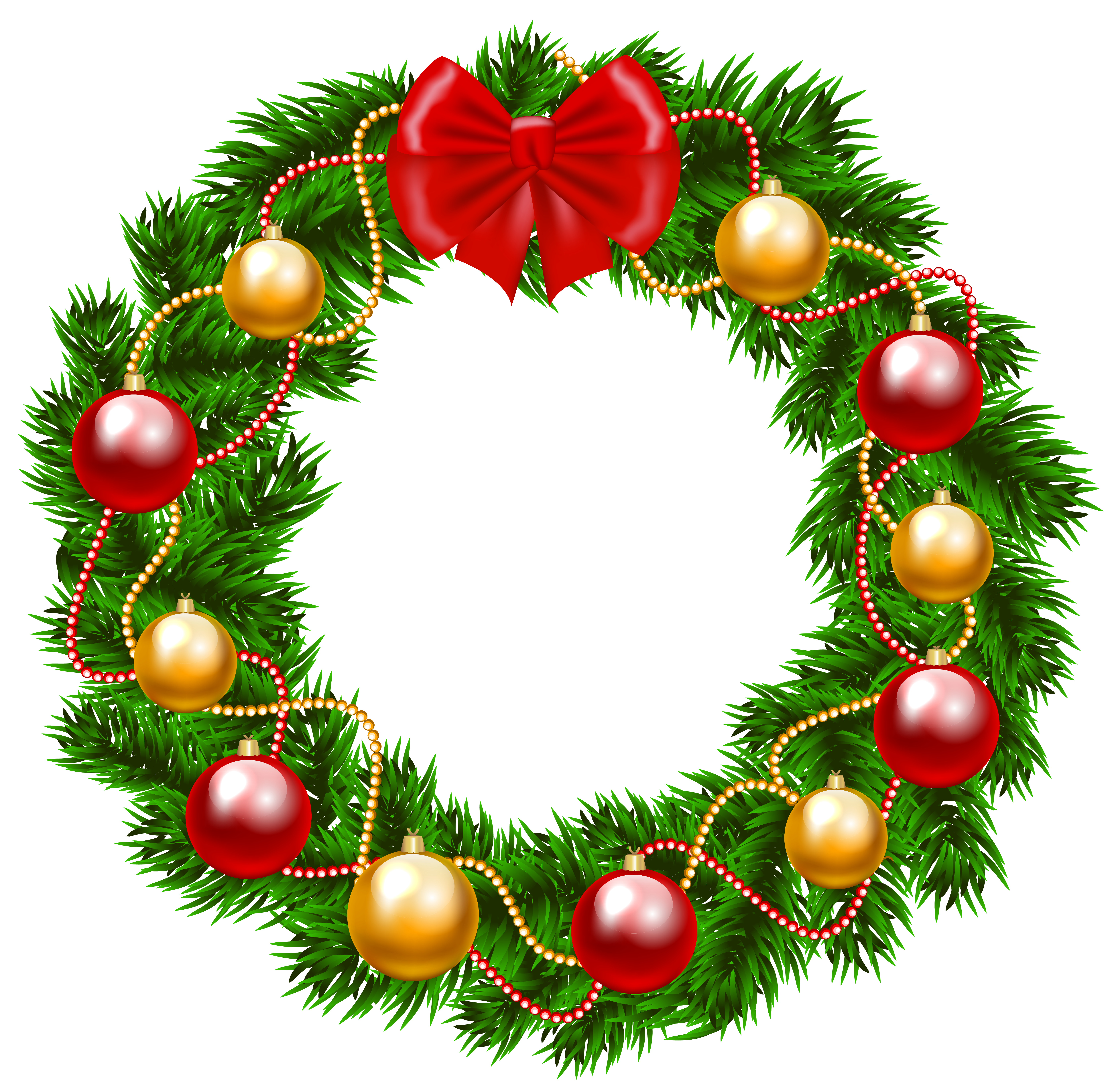 Christmas wreath border png. Clipart image gallery yopriceville