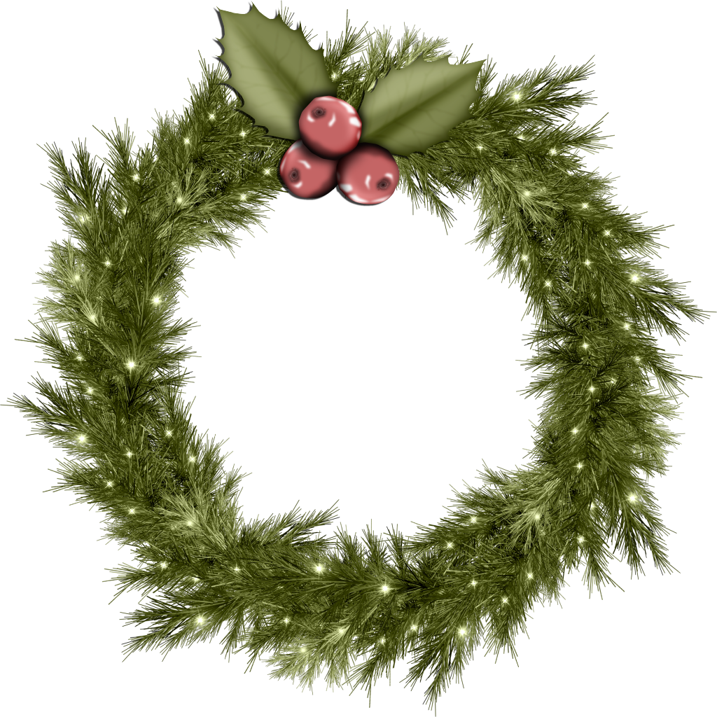 Christmas wreath .png. Png images download image