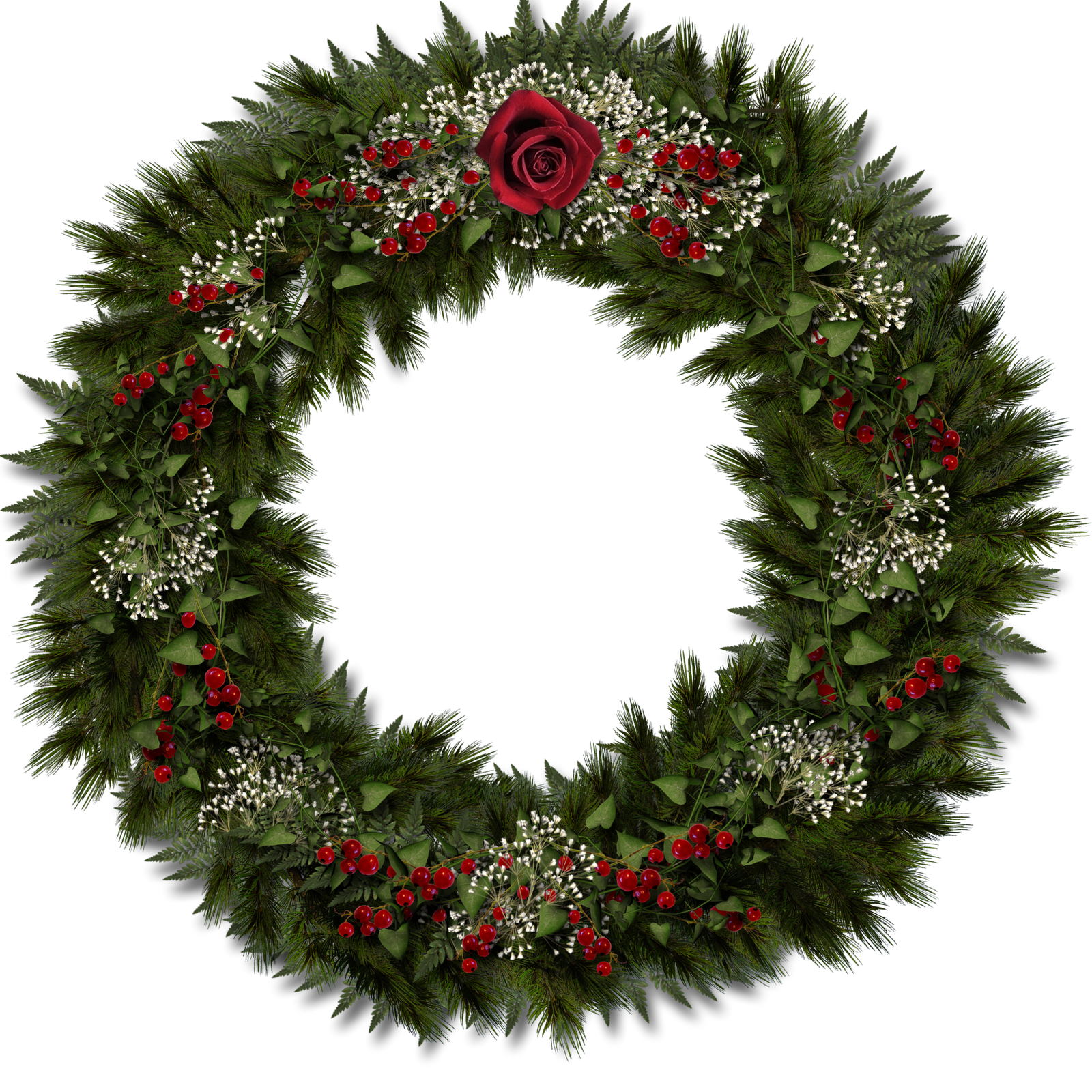 Christmas pine garland icon png. Wreath transparent pictures free