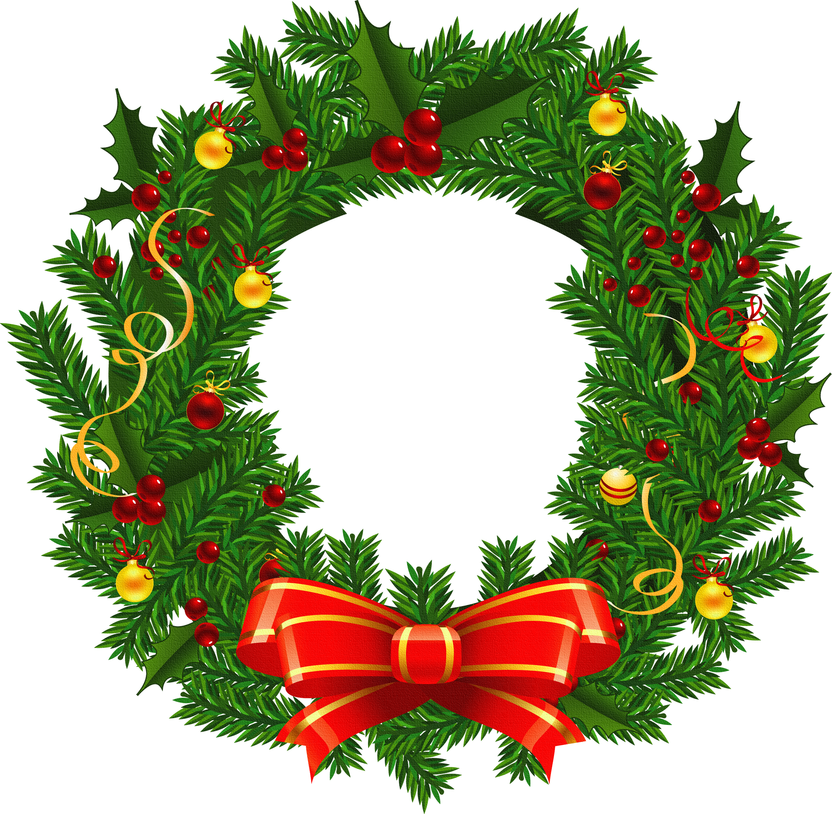 Christmas wreath png. Large transparent picture gallery