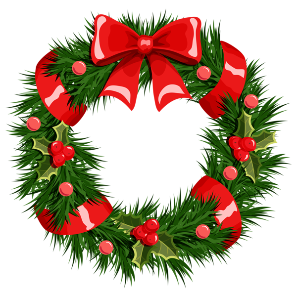 Christmas clipart transparent background. Wreath png printibles digi