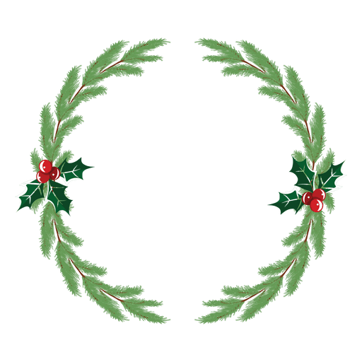 Christmas wreath vector png. Icon transparent svg