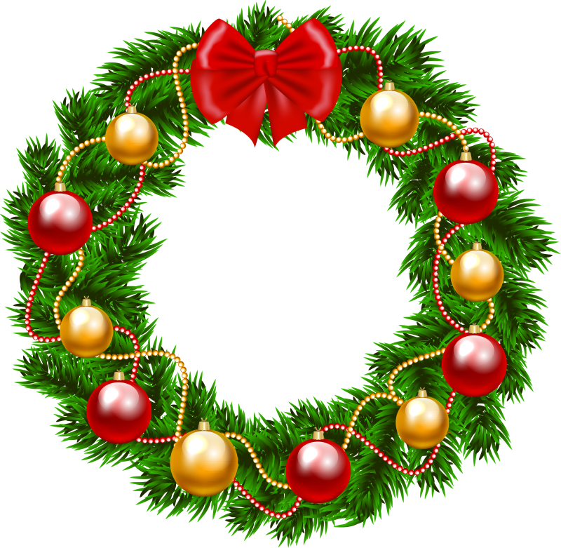 Christmas Wreath Vector.Christmas Wreath Vector Transparent Png Clipart Free