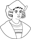 Christopher columbus clipart outline. Free black and white