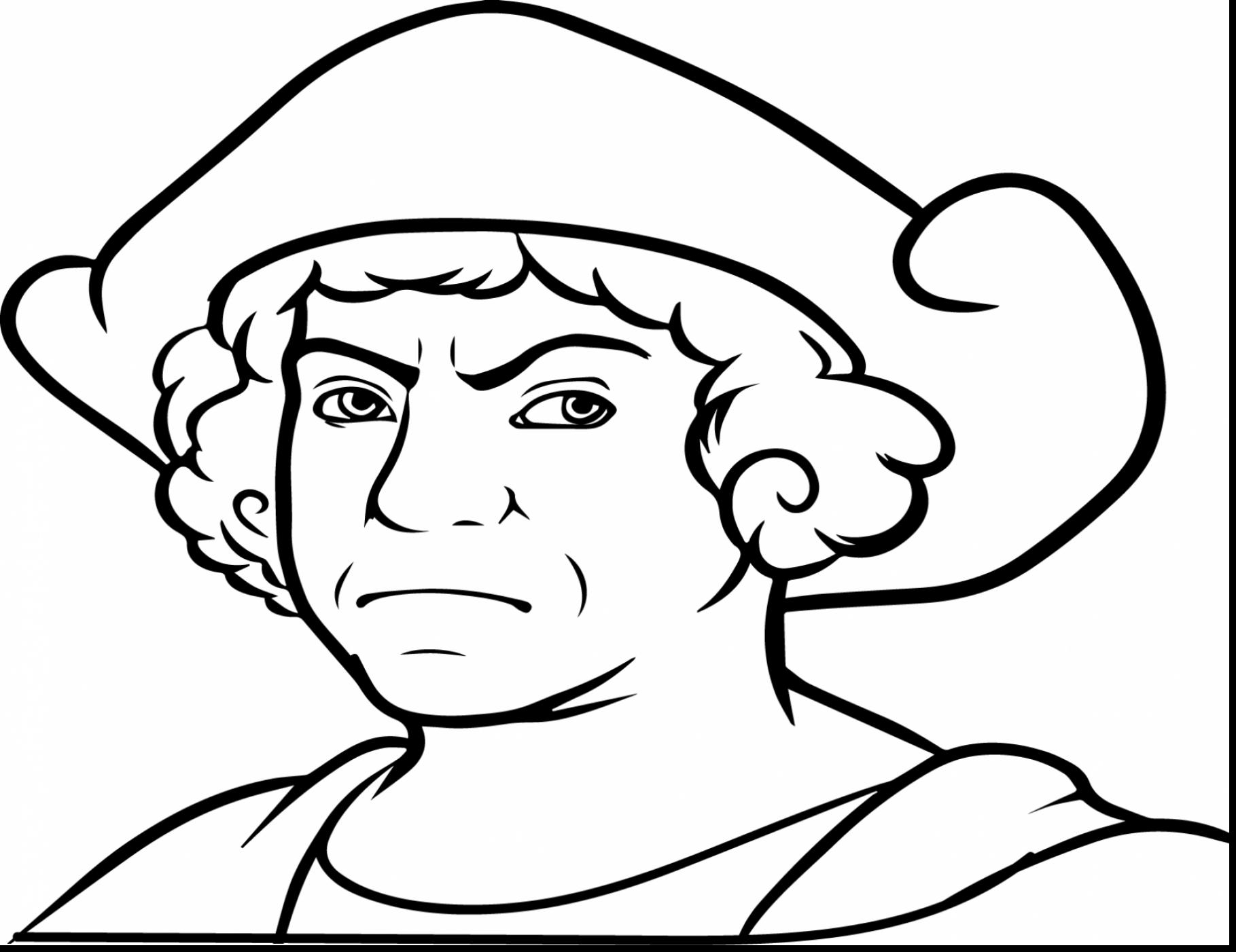 Christopher columbus clipart outline. Drawing at getdrawings com