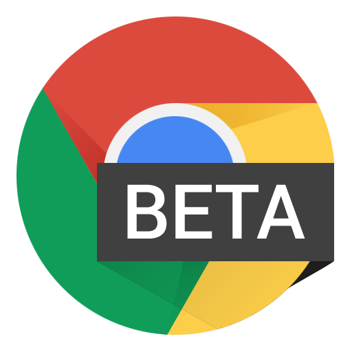 Chrome design png. Beta icon android l